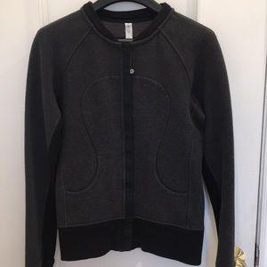 Lululemon Gray Scuba Bomber Jacket 2013 Size 6